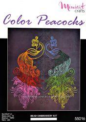 Набор для вышивания Цветные павлины