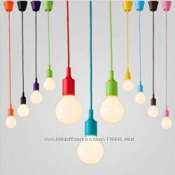 Цветные подвесы-лампочки