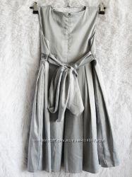 Платье и болеро для девочки серый 128рост