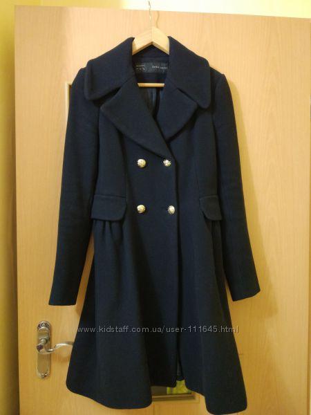 Zara пальто шерсть