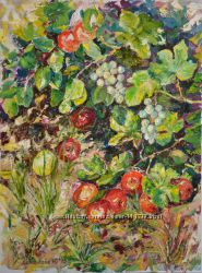 Авторська картина Букринcькі яблука, олія, 80х60см