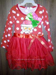 Нарядное новогоднее платье для малышки на 2-3 годика