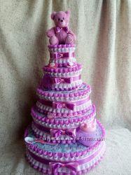 Торт  из  Памперсов  Подгузников