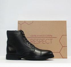 Зимние ботинки Respect оригинал. Натуральная кожа, цигейка. 39-45