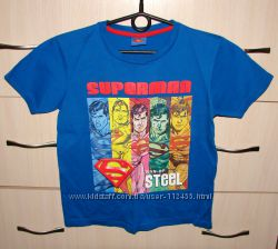 Футболка Супермен 134 р. , в отличном состоянии