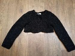 Чёрное блестящее болеро H&M 6-8 лет 122 рост