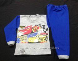 Пижама для мальчиков, тачки, с начесиком в наличии