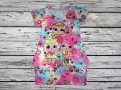 Платье туника для девочки, много расцветок