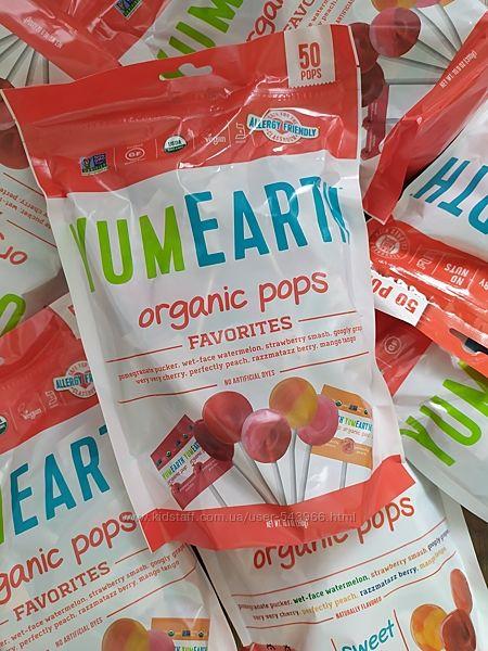 Yum Earth, Органические леденцы, ассорти, 50 леденцов