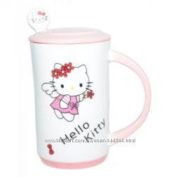 Чашка с крышкой и ложкой Hello Kitti