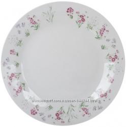 Тарелка обеденная фарфоровая  Цветочки