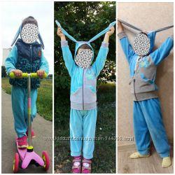Велюровый костюм для девочки 92-104 см.