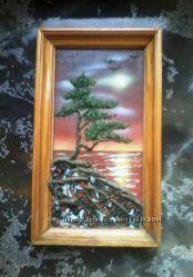 Картина из крошки натуральных камней.