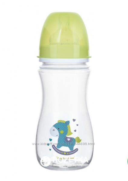 Бутылочка антиколиковая Canpol Babies EasyStart - Toys с широким отверстием