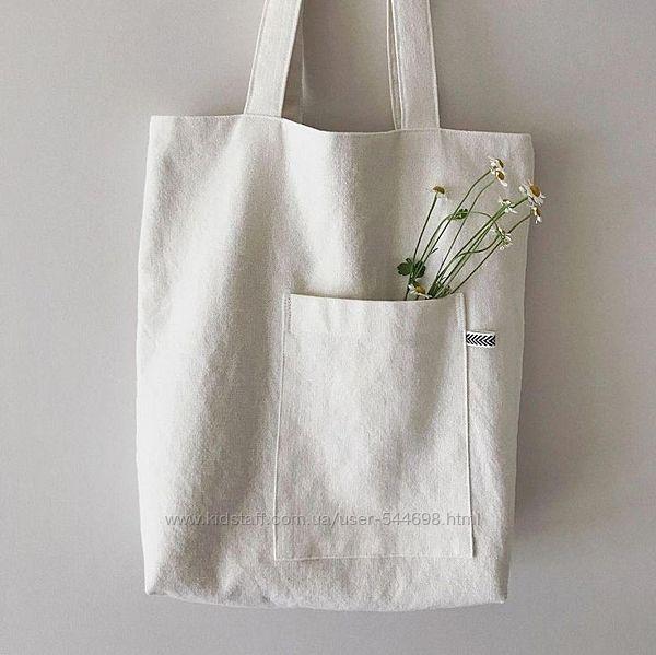 ЭКО сумка шоппер стильный минимализм