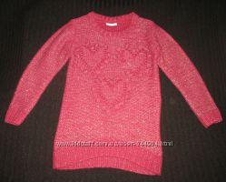 Удлиненный теплый свитер, туника Matalan на 6-7 лет, 122 см