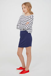 Узкая мини юбка, юбочка, спідниця H&M на 10-12 лет, 146-152 см