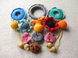 Деревянные обвязанные кольца и бусины для слингобусов