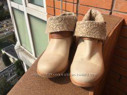 Новые, романтичные кожаные легкие итальянские ботиночки Felmini