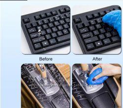 Гель лизун для чистки , клавиатуры, пультов, салона автомобиля