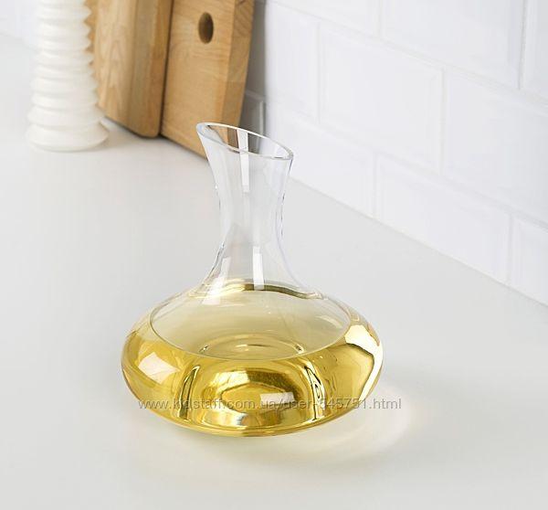 Графин, 1 литр, прозрачное стекло, Икеа, новый, в Киеве