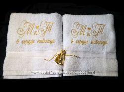 полотенце с именной вышивкой 50х90, Крюковщина