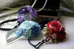 Греческие повязки с цветами