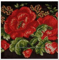 Вышивка схема маки вышиванка женская платье сукня вишиванка вишивка хрестик