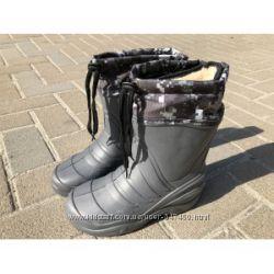 Резиновые сапоги, снегоходы с теплым съёмным носком