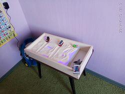 Детский световой стол для рисования песком. Световой планшет.