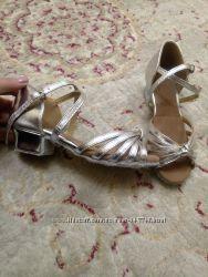 Туфли для бальных танцев, новые, 20, 5см