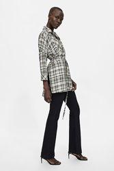 Стильная рубашка, туника, блуза Zara XS-S вискоза-хлопок