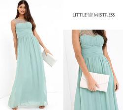 Очень красивое платье в пол little mistress uk10/eu38