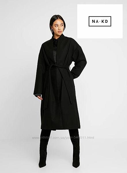 Стильное пальто миди с поясом NA-KD, eu38
