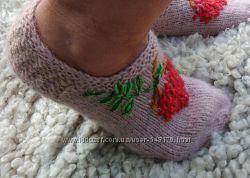 женские вязаные носки шерстяные носки вязаные тапочки