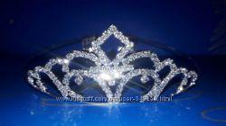 Диадемы, короны для девочек, девушек серебристого цвета