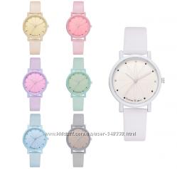 Часы женские цвета макарун 5 цветов