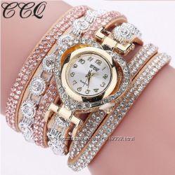 Часы браслет сердечко CCQ восемь расцветок