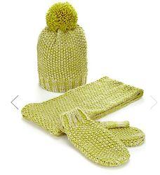 Набор Marks&Spencer  шапка шарф и варежки на девочку 3-6 лет