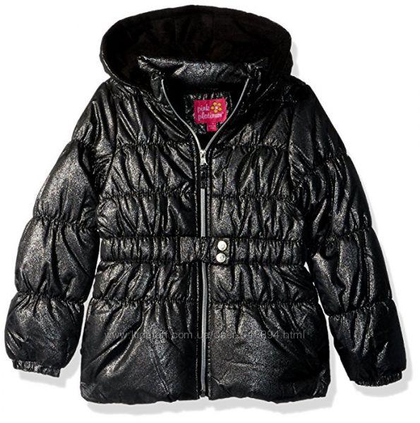Теплая куртка с поясом Pink Platinum р. 4Т