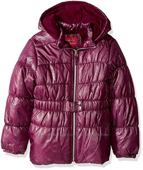 Новая теплая курточка с поясом Pink Platinum р. 4Т