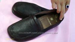 Немецкие добротные  кожаные туфли  Bar на широкую ножку р-39. Новые.