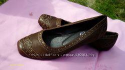 Итальянские  туфли Andrea Conti р. 37-38. Натуральная кожа. Новые.