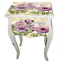 Прикроватная деревяная тумбочка , стол в стиле Прованс. Роспись. Наличие. .