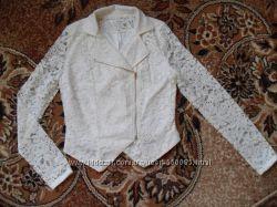 Летняя гипюровая куртка р С