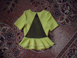 Летняя блузка с баской р 42