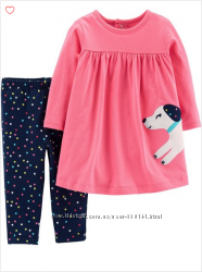Комплект платье лосины свитшот Carters, H&M от рождения до 14 лет