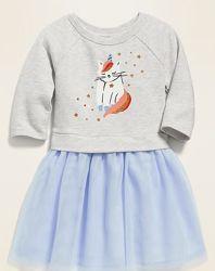 Красивое платье H&M НМ Gymboree GAP девочкам от 2 до 14 лет. Длинный рукав
