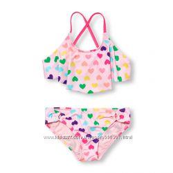 Раздельные купальники для девочки, солнцезащитная ткань, 147-159см, 4 расцв