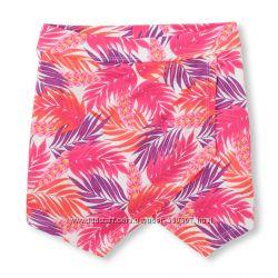 Трикотажные юбки на резинке с вшитыми шортами 104-155см